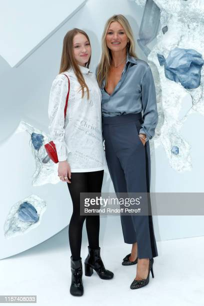Kate Moss and her daughter Lila Moss attend the Dior Homme Menswear Spring Summer 2020 show as part of Paris Fashion Week on June 21 2019 in Paris...