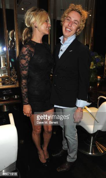 Kate Moss and James Brown attend the opening of James Brown's new hair salon on June 24 2009 in London England