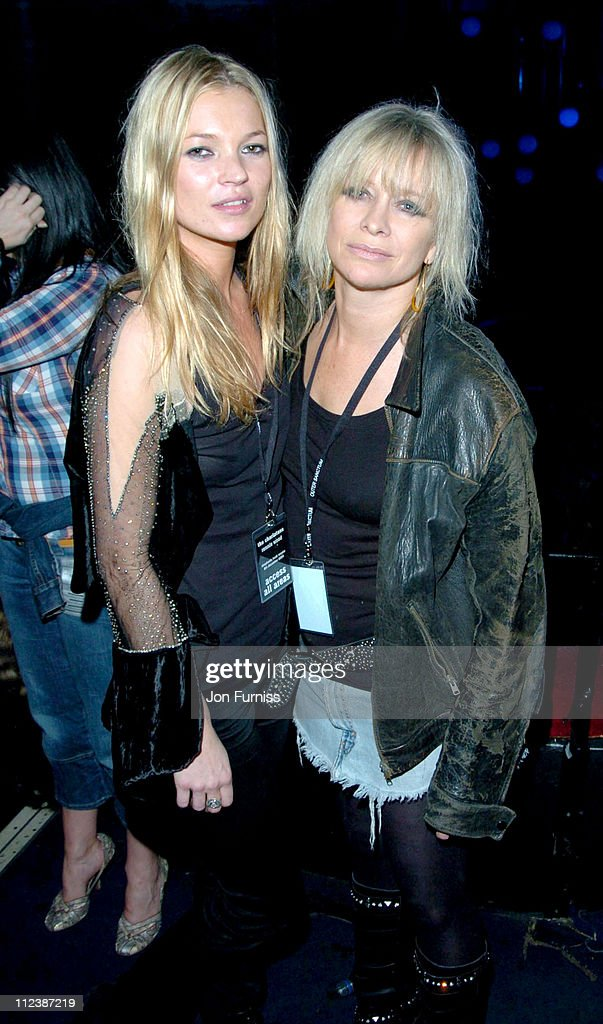 Kate Moss and Jo Wood during Hero2Hero Concert Sponsored by O2 Featuring The Charlatans & Ronnie Wood plus Guests at Shepherd Bush Empire in London, Great Britain.