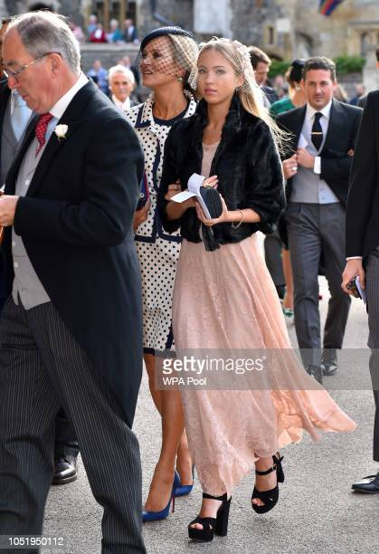 Kate Moss and Lila Grace Moss Hack ahead of the wedding of Princess Eugenie of York and Mr Jack Brooksbank at St George's Chapel on October 12 2018...