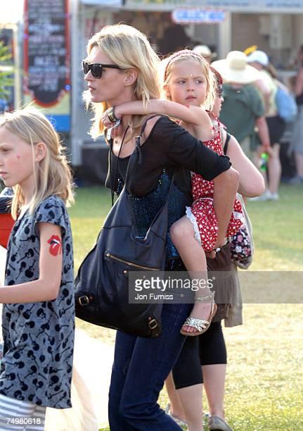 Kate Moss and Lila Grace