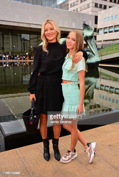Kate Moss and Lila Moss attend the Longchamp SS20 Runway Show at Hearst Plaza Lincoln Center on September 7 2019 in New York City