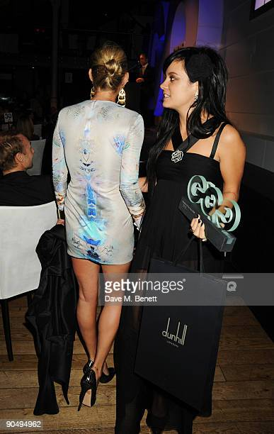 Kate Moss and Lily Allen attend the 2009 GQ Men Of The Year Awards at The Royal Opera House on September 8 2009 in London England