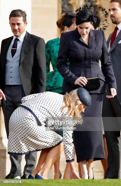 Kate Moss and Liv Tyler attend the wedding of Princess Eugenie of York and Jack Brooksbank at St George's Chapel on October 12 2018 in Windsor England