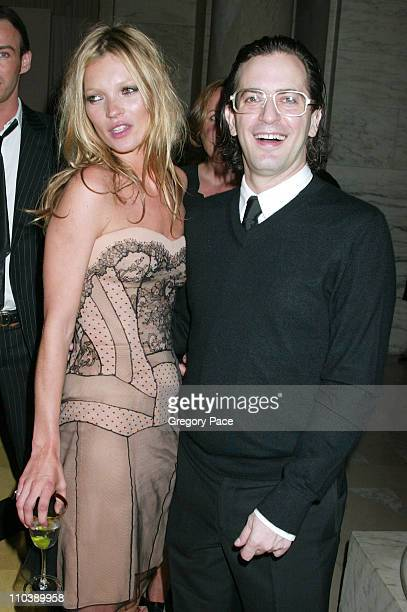 Kate Moss and Marc Jacobs during 2005 CFDA Fashion Awards Inside at New York Public Library in New York City New York United States