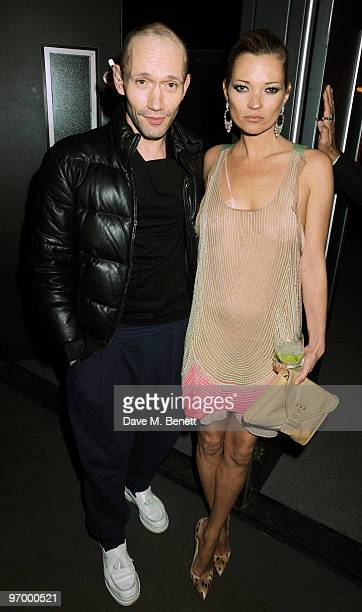 Kate Moss and Michael Clark attend the Love Ball London at the Roundhouse on February 23 2010 in London England
