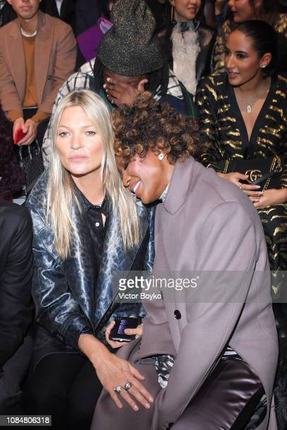 Kate Moss and Naomi Campbell attend the Dior Homme Menswear Fall/Winter 20192020 show as part of Paris Fashion Week on January 19 2019 in Paris France