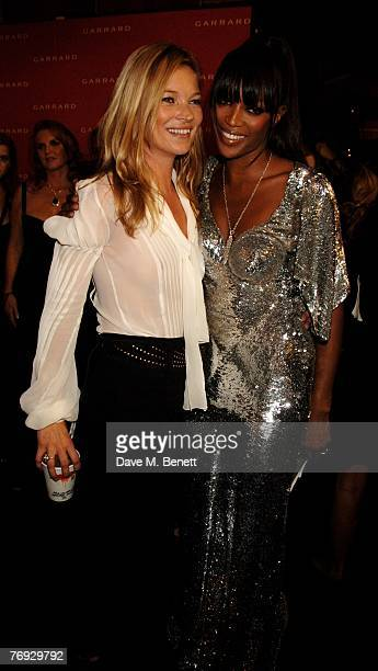 Kate Moss and Naomi Campbell attend the Fashion For Relief fashion show at the BFC Tent on September 20 2007 in London England