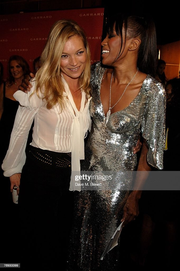 Kate Moss and Naomi Campbell attend the Fashion For Relief fashion show, at the BFC Tent on September 20, 2007 in London, England.