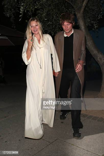 Kate Moss and Nikolai von Bismarck seen celebrating designer Kim Jones birthday party at Laylow on September 11 2020 in London England