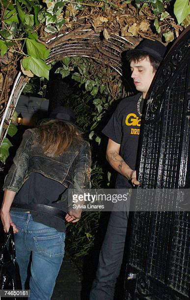 Kate Moss and Pete Doherty at the Kate Moss and Pete Doherty Sighting Arriving Home February 15 2007 at in London