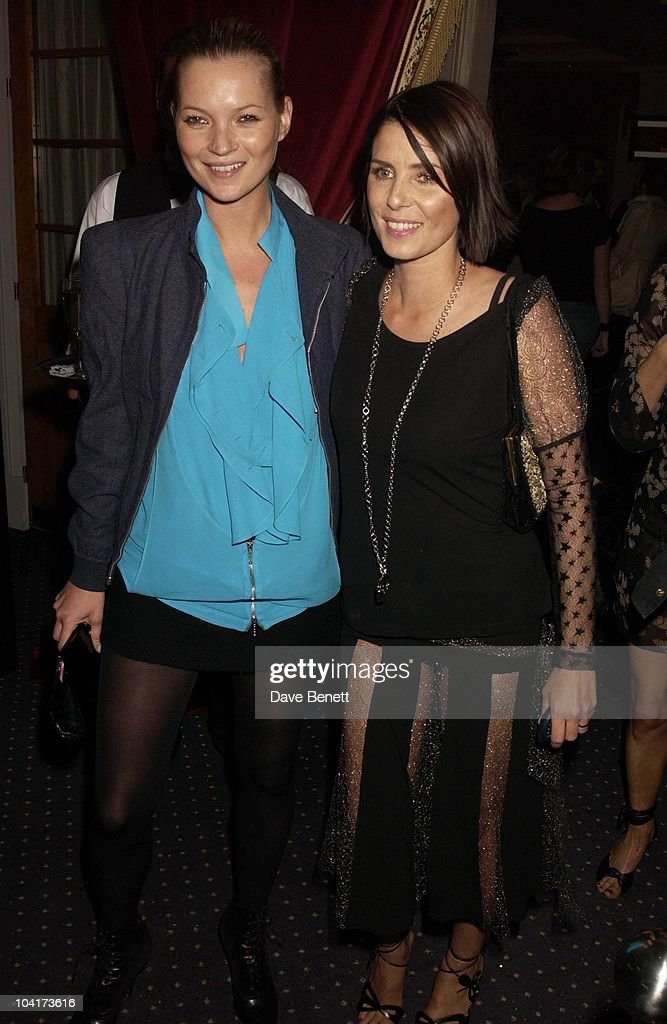 Kate Moss And Sadie Frost, Frost French Fashion Tea Party At Bafta Cinema In Picadilly,turned The Normal Fashion Show On Its Head As The Audience Was Treated To A Film Of The Designers New Collection, London Fashion Week 2003