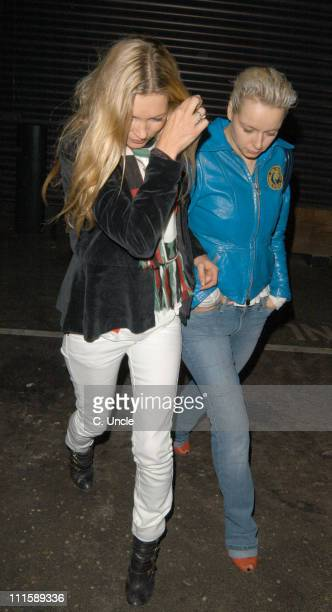 Kate Moss and Samantha Morton during Kate Moss and Shane McGowan Sighting in London March 10 2005 at Westbourne Studios in London