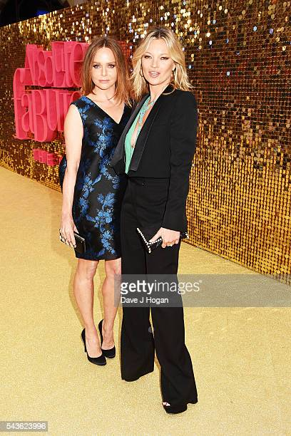 Kate Moss and Stella McCartney attend the World Premiere of 'Absolutely Fabulous The Movie' at Odeon Leicester Square on June 29 2016 in London...