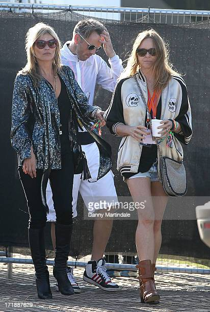 Kate Moss and Stella McCartney attends day 3 of the 2013 Glastonbury Festival at Worthy Farm on June 29 2013 in Glastonbury England