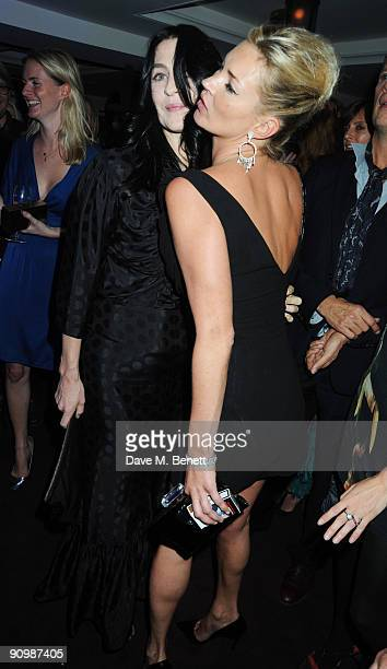 Kate Moss and Susie Bick attend the Unique private dinner at the IVY on September 20 2009 in London England