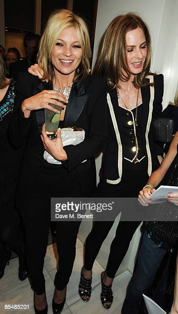 Kate Moss and Trinny Woodall attend the Mummy Rocks official launch and charity auction in aid of the Great Ormond Street Hospital Children's...