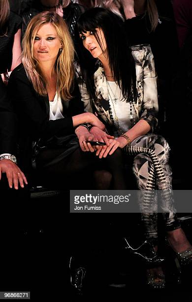 Kate Moss Annabel Nielsen and Fran Cutler at the Fashion for Relief show for London Fashion Week Autumn/Winter 2010 at Somerset House on February 18...