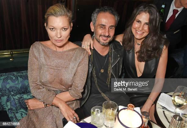 Kate Moss Ara Vartanian and Sabrina Gasperin Vartanian attend a private dinner celebrating the launch of the KATE MOSS X ARA VARTANIAN collection at...