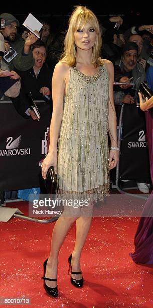 Kate Moss arrives at Swarovski Fashion Rocks 2007 on October 18, 2007 at the Royal Albert Hall in London, England.
