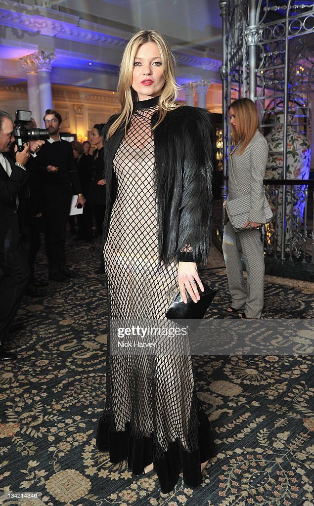 Kate Moss arrives at the British Fashion Awards at The Savoy Hotel on November 28, 2011 in London, England.