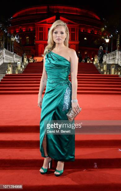 Kate Moss arrives at The Fashion Awards 2018 in partnership with Swarovski at the Royal Albert Hall on December 10 2018 in London England