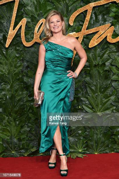 Kate Moss arrives at The Fashion Awards 2018 In Partnership With Swarovski at Royal Albert Hall on December 10 2018 in London England