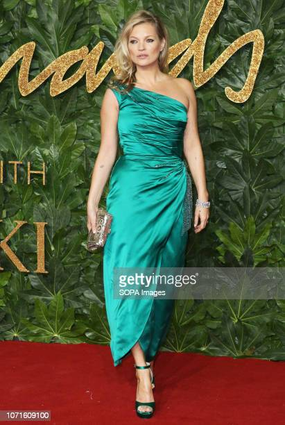 Kate Moss arrives at The Fashion Awards 2018 In Partnership With Swarovski at the Royal Albert Hall