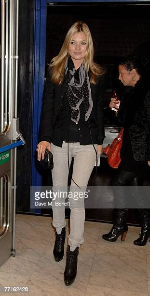 Kate Moss arrives at the gala screening of 'Control' at Odeon Covent Garden on October 2 2007 in London England
