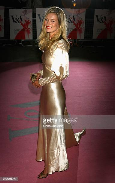 Kate Moss arrives at the The Golden Age Of Couture party at the VA on September 18 2007 in London England