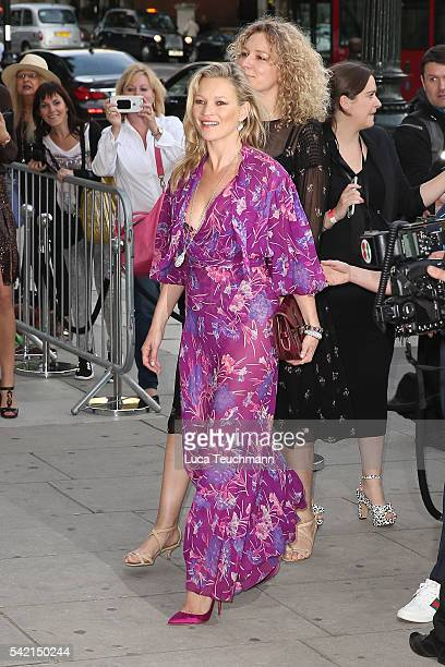 Kate Moss arrives for the VA Summer Party at Victoria and Albert Museum on June 22 2016 in London England
