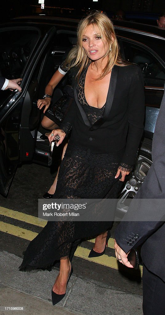 Kate Moss arriving at 45 Park Lane on June 26, 2013 in London, England.