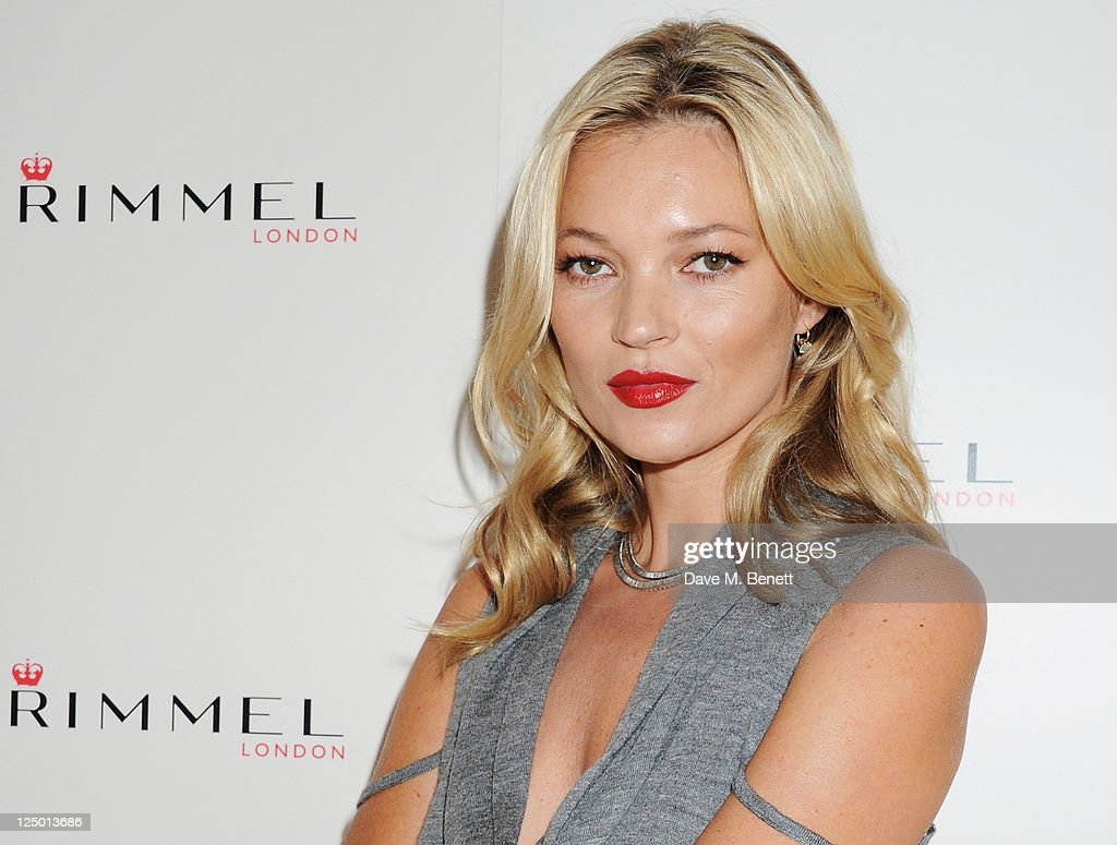 Kate Moss Presents Her First Personally Designed Lipstick Collection For Rimmel - Photocall : News Photo