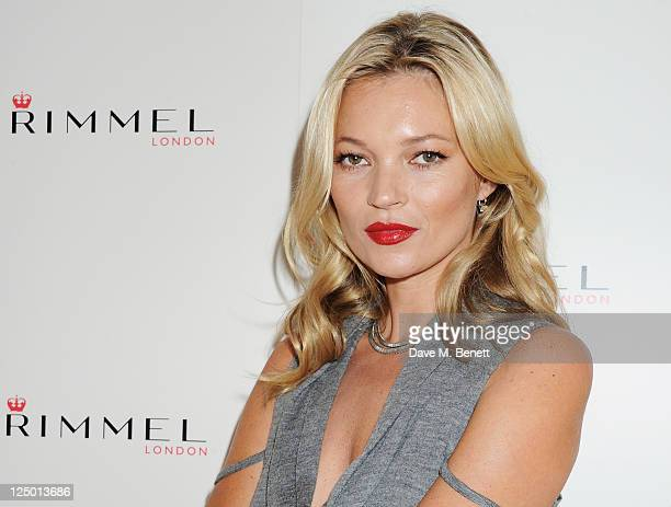 Kate Moss at a photocall to launch her personally designed lipstick range for the brand 'Kate Moss Lasting Finish Lipstick Collection' at Claridges...
