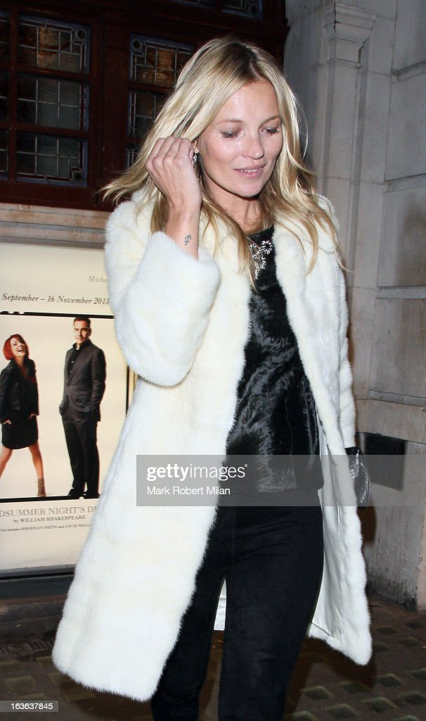 Kate Moss at J. Sheeky restaurant on March 13, 2013 in London, England.