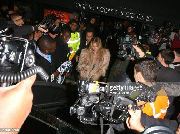 Kate Moss at Ronnie Scott's for a Prince live show on February 17, 2014 in London, England.