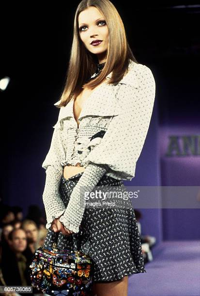 Kate Moss at the Anna Sui Spring 1993 show circa 1992 in New York City