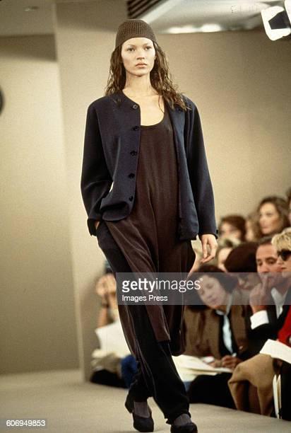 Kate Moss at the Calvin Klein Spring 1993 show circa 1992 in New York City.