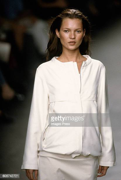 Kate Moss at the Calvin Klein Spring 1999 circa 1998 in New York City