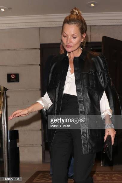 Kate Moss attending Meg Mathews 53rd Birthday party at China Tang restaurant on March 25 2019 in London England