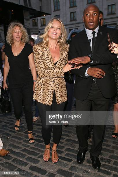 Kate Moss attending the Charlotte Tilbury Scent of a Dream Perfume launch in Covent Garden on September 15 2016 in London England