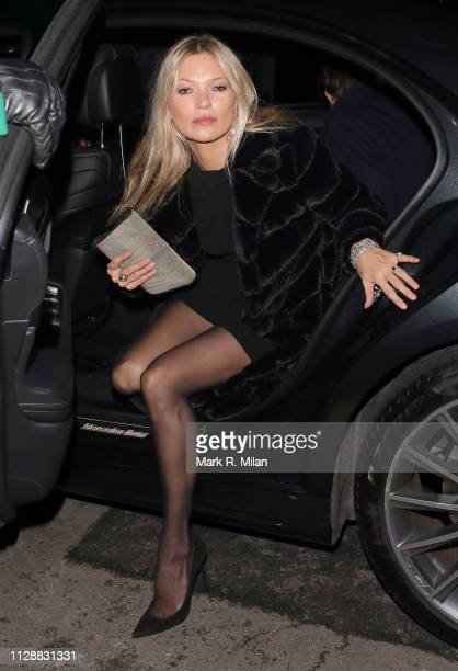 Kate Moss attending the Vogue Bafta after party at Annabel's club on February 10 2019 in London England