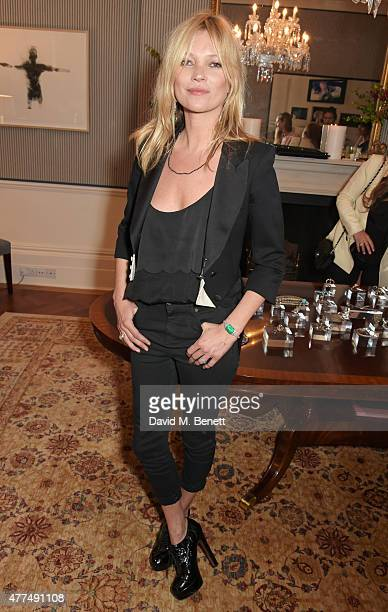 Kate Moss attends a cocktail reception to preview Ara Vartanian's Unique Jewellery Collection hosted by Ara Vartanian and Fran Cutler on June 17 2015...