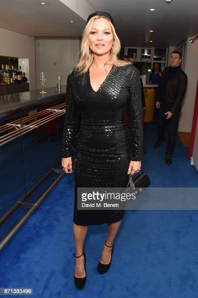 Kate Moss attends a dinner hosted by Jonathan Newhouse and Albert Read for Edward Enninful to celebrate the December issue of British Vogue at the...