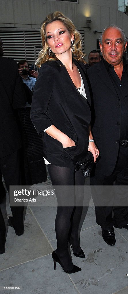 Kate Moss attends a private dinner at Zuma restaurant hosted by Phillip Green to celebrate opening of TopShop's Knightsbridge store on May 19, 2010 in London, United Kingdom.
