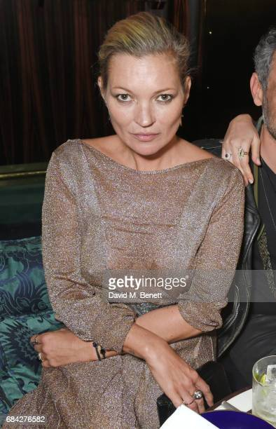 Kate Moss attends a private dinner celebrating the launch of the KATE MOSS X ARA VARTANIAN collection at Isabel on May 17 2017 in London England