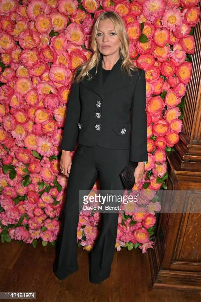 Kate Moss attends a private dinner hosted by Michael Kors to celebrate the new Collection Bond St Flagship Townhouse opening on May 9 2019 in London...