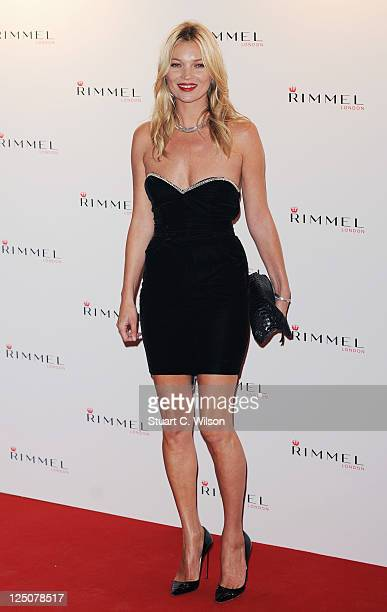 Kate Moss attends a Rimmel party celebrating her 10 year partnership at Battersea Power station on September 15 2011 in London England