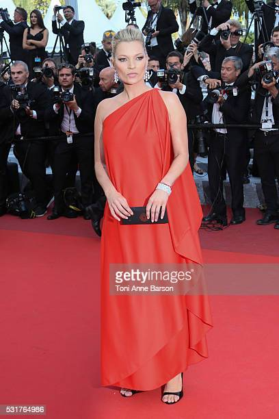 Kate Moss attends a screening of 'Loving' at the annual 69th Cannes Film Festival at Palais des Festivals on May 16 2016 in Cannes France