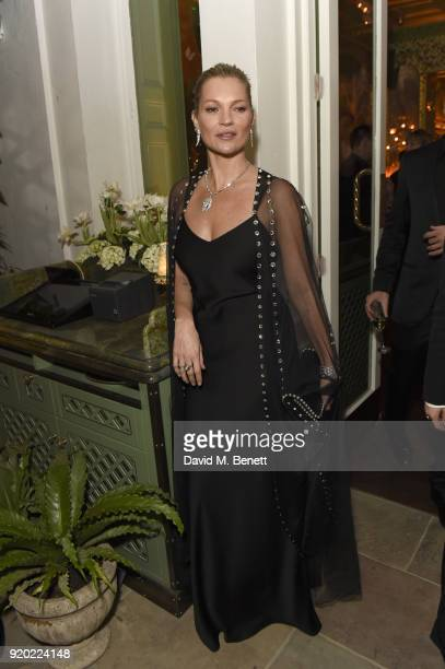 Kate Moss attends as Tiffany Co partners with British Vogue Edward Enninful Steve McQueen Kate Moss and Naomi Campbell to celebrate fashion and film...